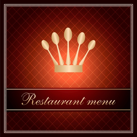 luxury template for a restaurant menu Stock Vector - 12223673