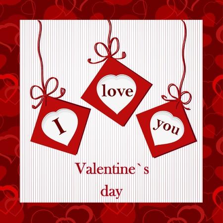 i nobody: Valentine`s card - I love you Illustration