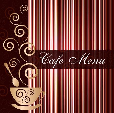 cafe latte: Template of a cafe menu