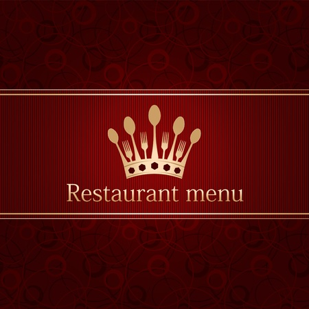 luxury template for a restaurant menu Stock Vector - 12485919