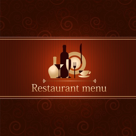 luxury template for a restaurant menu Stock Vector - 12485967