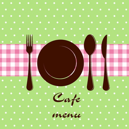 dining tables: Template of a cafe menu