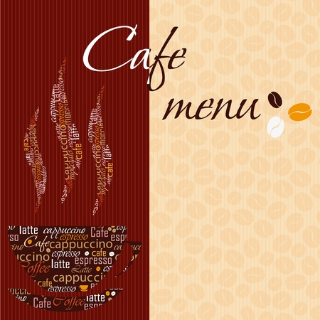 latte art: Template of a cafe menu