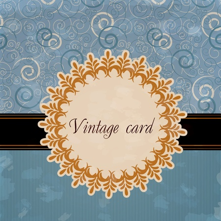 Vintage card Stock Vector - 12486042