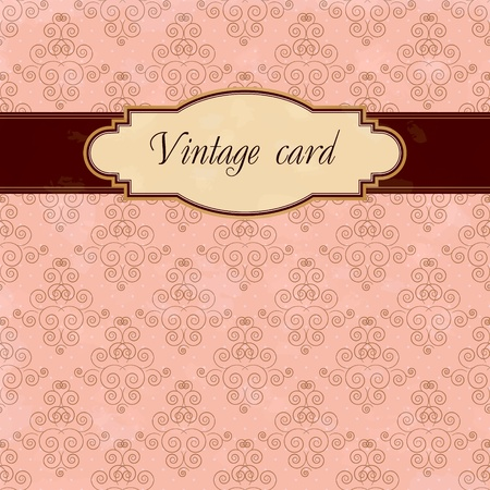 vintage card Stock Vector - 12486053