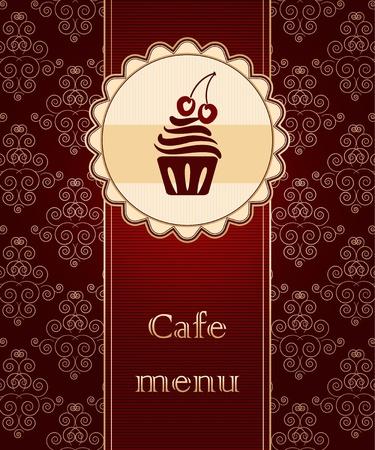 Sjabloon van een cafe menu