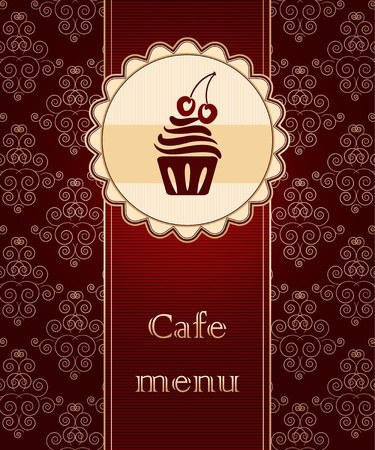 pastry shop: Template of a cafe menu