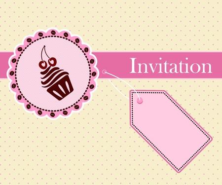 cake paper: Invitation card