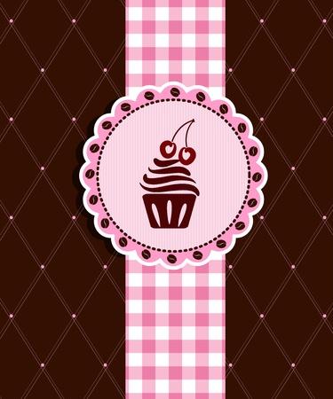 Postcard with cupcake Illustration