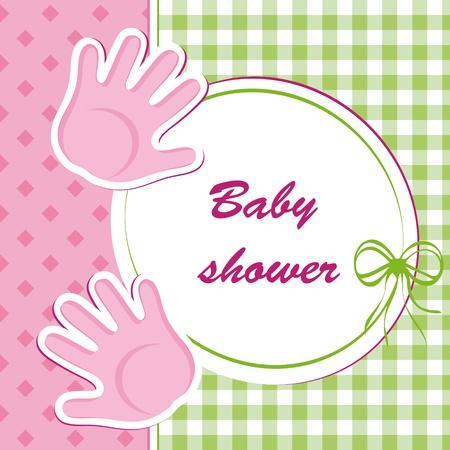 baby shower - girl Stock Vector - 12485741