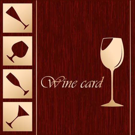 Template of alcohol card Illustration