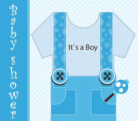 baby shower - boy Stock Vector - 12485822