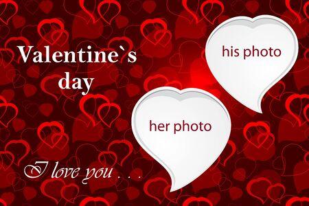 wedding photo frame: Valentine`s photo frame
