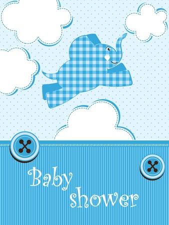 baby shower - boy Stock Vector - 12485788