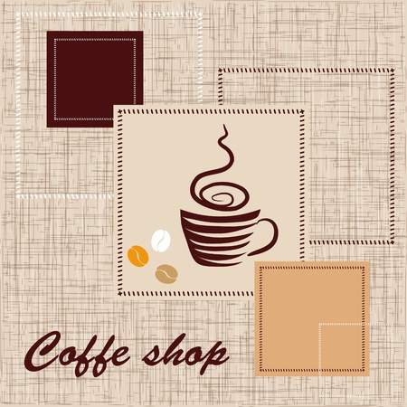 Template of coffee shop Stock Vector - 12486073