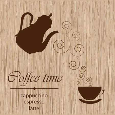 Template of a coffee menu