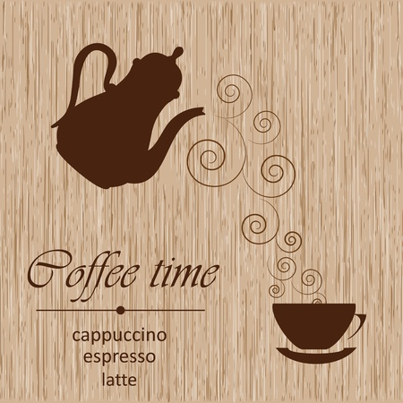 Template of a coffee menu Vector