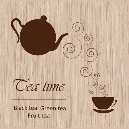 tarde de cafe: Té plantilla de tiempo