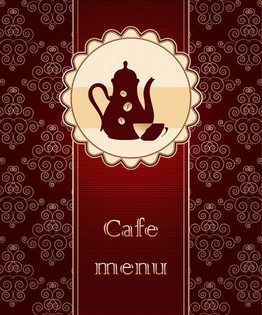 Template of a cafe menu