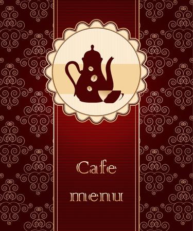 Template of a cafe menu Stock Vector - 12486028