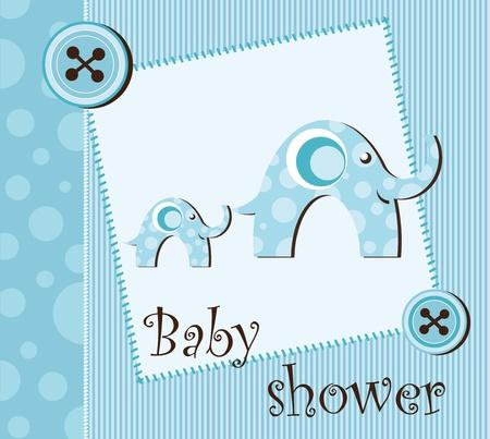 Baby shower - boy Stock Vector - 12485767