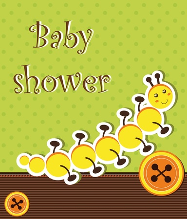 centipede: Baby shower card