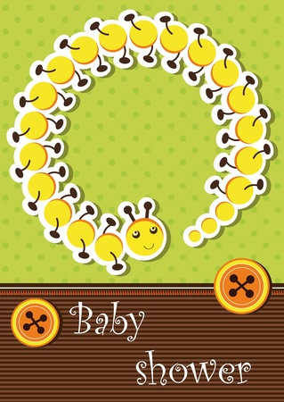 Baby shower card Stock Vector - 12485789