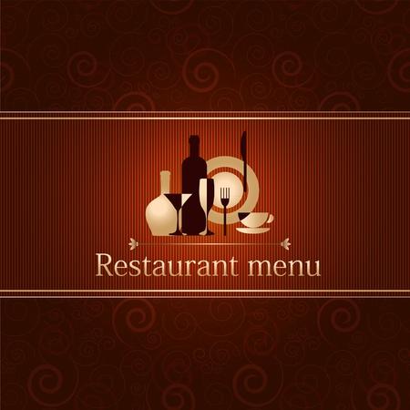 Luxus-Vorlage für ein Restaurant-Menü