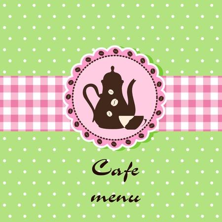 Template of a cafe menu Vector