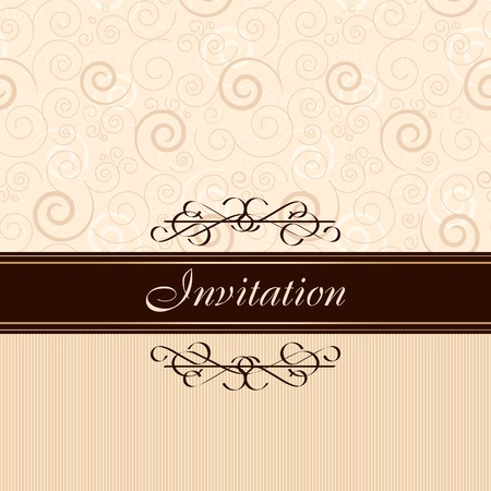 gold brown: Invitation card