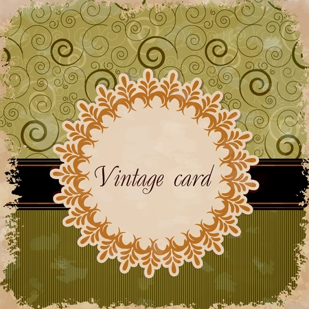 vintage card Stock Vector - 12486056
