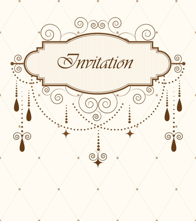 inbjudan: Inbjudan kort Illustration