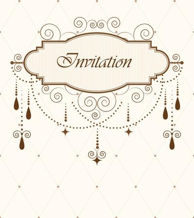 chandelier: Invitation card