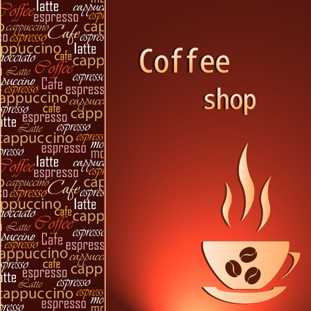 Template of a coffee shop Illustration