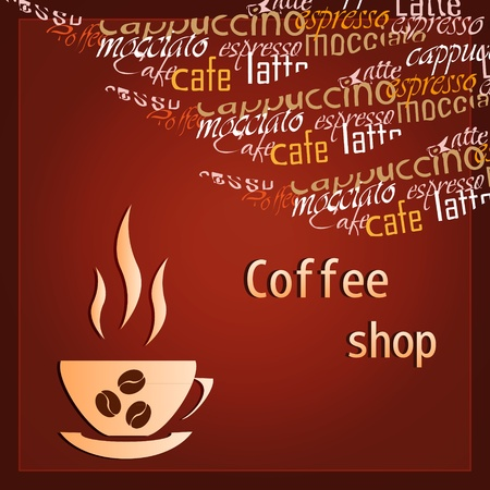 Template of a coffee shop Stock Vector - 12485830