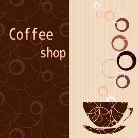 Template for a tea, coffee, chocolate menu Illustration