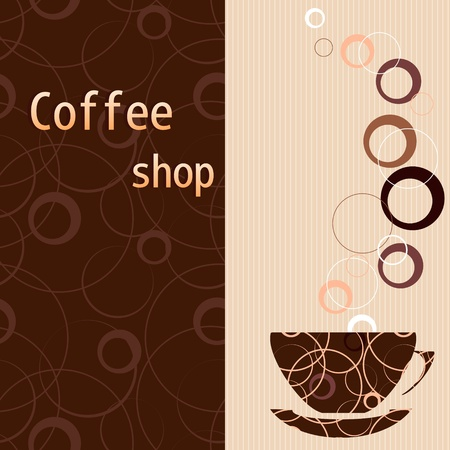 coffee shop: Template for a tea, coffee, chocolate menu Illustration