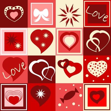 Seamless Valentine's wallpaper
