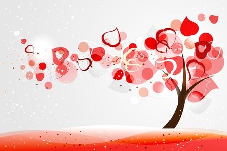 Valentine tree Vector