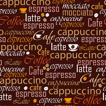 Coffee name seamless Stock Vector - 12485832