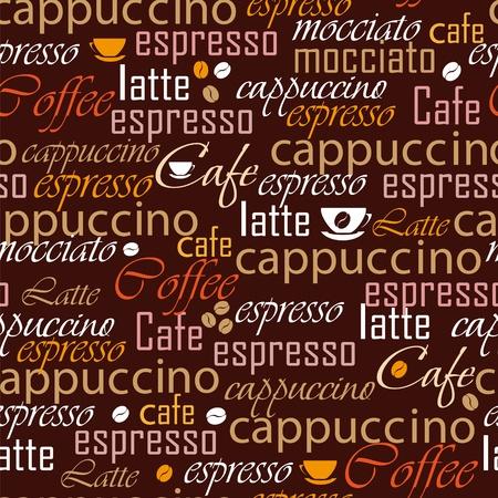facture restaurant: Nom de caf� parfaite Illustration