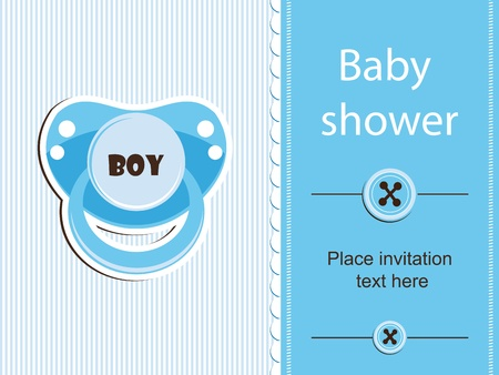 Baby shower - boy Stock Vector - 12486060