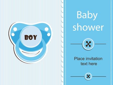 Baby shower - boy Stock Vector - 12486060