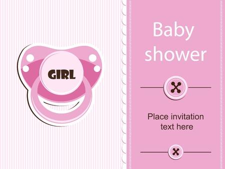 Baby shower - girl Stock Vector - 12486058