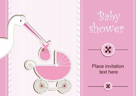 Baby shower - fille Vecteurs