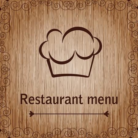 Modello di menu di un ristorante