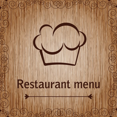 Template of a restaurant menu Illustration