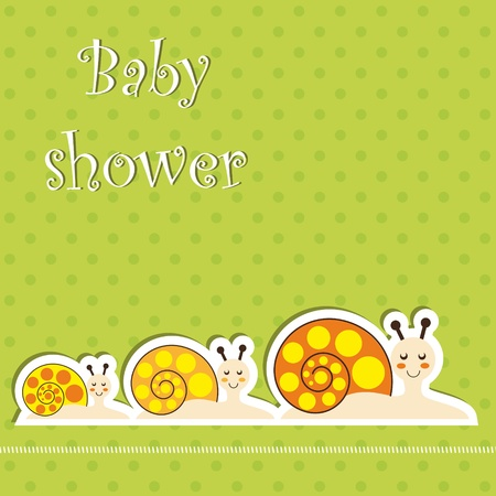 Baby shower card Stock Vector - 12486067