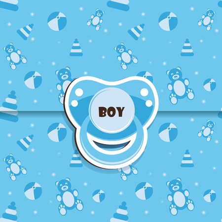 soother: Baby shower - boy Illustration
