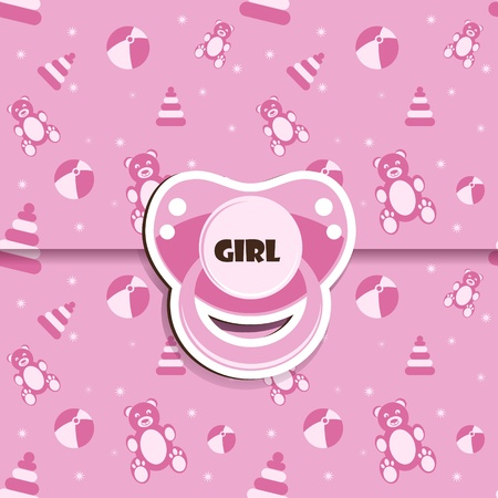 Baby-Dusche - Mädchen Vektorgrafik
